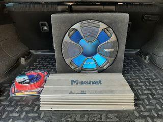 Буфер Blaupunckt GT 1200w+ усилитель MAGNAT +новые провода-120 евро