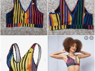 Bustiera bustiere Nike XS S L XL; costum de baie XS. купальник XS, спортивный топ бра Nike XS S L XL