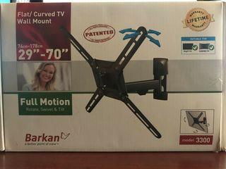 "поворотный настенный кронштейн Barkan 3300 для телевизора до 65"", новый"