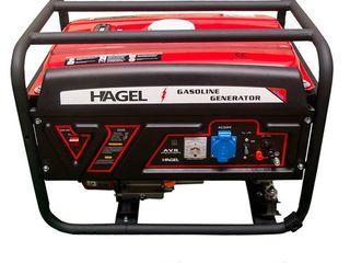 Reduceri! генератор бензиновый 3.2квт 220в 5000 hagel/generator pe benzina/6650 lei