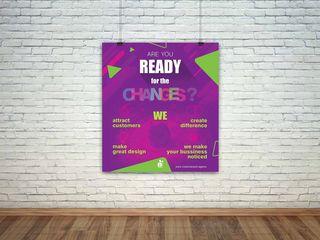 Нужен классный дизайн буклетов, флаеров, баннеров,  меню, лого? Приходите к нам!