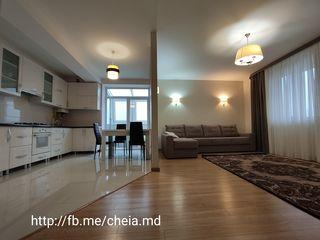 Трёхкомнатная квартира с ливингом, тремя балконами- 120м2, евроремонт! С мебелью! В клубном доме!