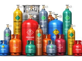 Гелий, аргон, кислород, азот, углекислый газ