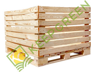 Контейнер деревянный яблочный, контейнер для яблок