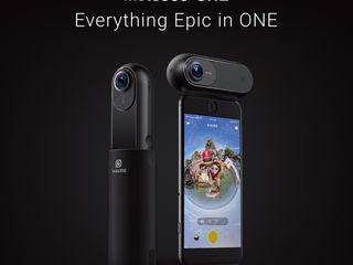 Insta 360 ONE  4К  Полный комплект : камера, невидимая в кадре селфи палка, аква бокс
