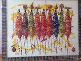 Tablou pictat din africa