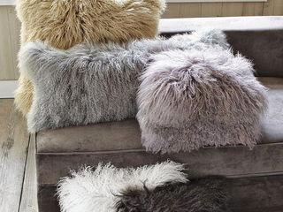 Декоративные подушки, натур.лама
