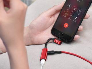Hoco lightning digital audio converter for Apple, Hoco Type-C 2-in-1 audio converter