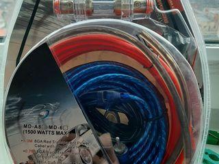 Комплект проводки для подключения 1500w-230 лей) Усилитель 1000w