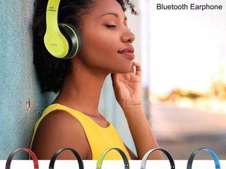Складная стерео гарнитура Беспроводная Bluetooth Спорт Earphone с Fm Радио Mp3 Player для телефона P