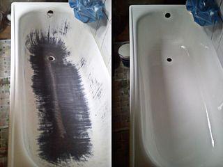 Профессиональная реставрация  жидким акрилом , ванна как новая!