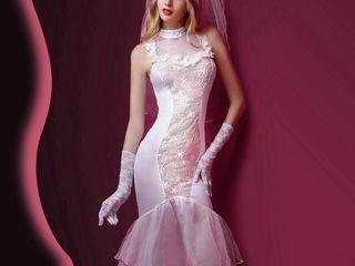 Игровой Ажурный костюм невесты S/M
