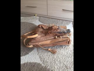 Сумка-планшет  из крокодила, большая