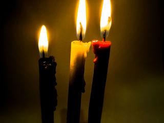 Чёрные ритульные свечи из натурального пчелиного воска