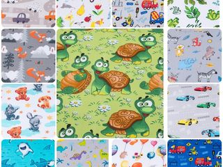 Детские ткани: х/б велюр,плюш Минки,бязь,муслин,фланель,и др.