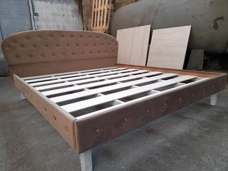 Новая кровать с обивкой. 160 х 200.  Металлический каркас.делаем на заказ любые размеры и цвета.