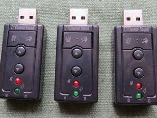 Audio USB, virtual 7.1 channel, External 3d Sound adapter. Windows 98-10