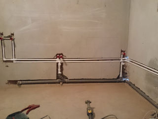 Сквозные отверстие в бетоне под трубы отопления, штробы под трубы, проводку.