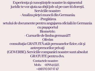 """Compania germană """"UVIS"""" UG  vă oferă consultația la în domeniul angajării în Germania."""