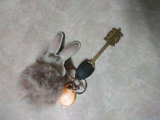 Ключи, жёлт брелок с зайчиком