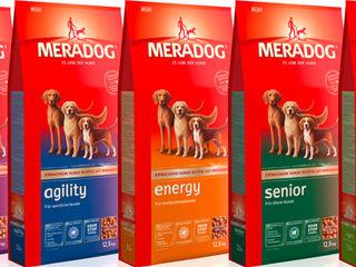 Корма для собак meradog компании mera.