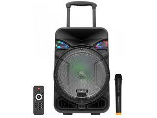 Boxa portabila - puternica, are microfon fara fir. livram gratuit!