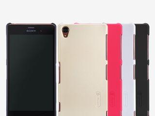 Sony Xperia Z3 чехол Nillkin Frosted Shield + защитная плёнка