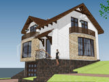 Casa din cotelet la buiucani, termoizolare superioara, varianta alba.