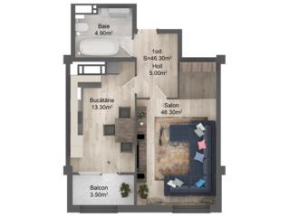 Однокомнатная квартира по лучшей цене 24900 евро от застройщика, красный кирпич, парк, Kaufland!