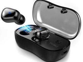 Bluetooth наушники с чехлом подзарядкой, супер звук! Блютуз QCY Q29 Black, блютуз Syllable D900. Это