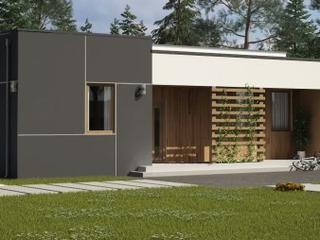 Дом с гаражом выполненный из СИП (SIP) панелей в современном стиле.