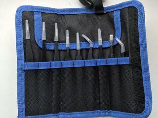 Набор пинцетов 9шт. Набор для ремонта iPhone и др. телефонов и планшетов.