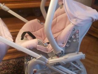 Продам коляску cam combi  family 3в1 розового цвета