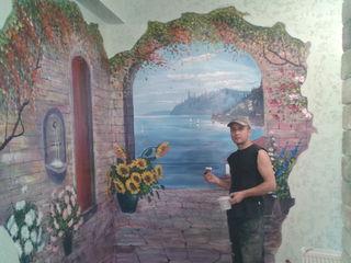 Барельеф ,роспись стен и потолков 3-D Pictura in volum pe perete