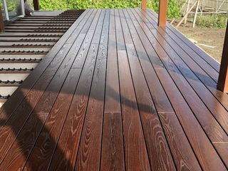 Decking din lemn termotratat Frasin si Pin