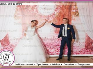 Foto panou , foto stand , banner ca decor cu baloane pentru nunta , cumetrie , zi de nastere , botez