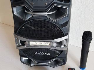 Boxă portabilă + microfon+bluetooth+radio+flashka+Aux. Nouă (în cutie). Priviți video!