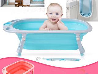 Занимает мало места! Складная ванночка для купания малышей.Новая. 590 лей