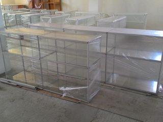 Tорговые стеллажи, витрины , офисная мебель бу