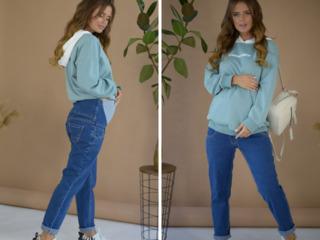Blugi elegant pentru femei însărcinate/Стильные брюки джинсовые для беременных