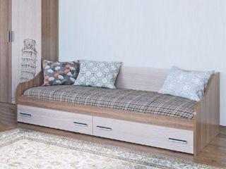 Кровать SV-Mebel Город 0.9 с ящиками + бесплатная доставка на  дом! paturi  in chisinau,moldova