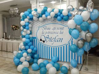 La cumatrii decor cu baloane de la 750 lei reduceri крестины декор от 750 лей fotopanou фотобаннер