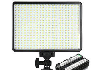 Видео-свет LED-396 (396 Лед, 30 Ватт, 1350Lux), Накамерный свет CN300 Air Pro, LED лампа Xanes 84Led