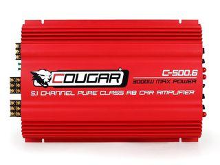 Шестиканальный усилитель Cougar C500.6 (3000W 6 каналов)