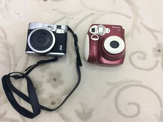 Fujifilm intax mini 90 și Polaroid 300