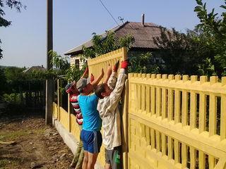 Gard din plite de beton. Забор из бетонных плит.