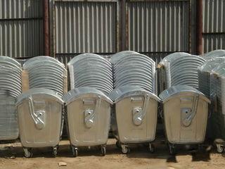 Containere zincate pentru deseuri menagere cu volum 1100 litre Оцинкованные контейнеры для мусора