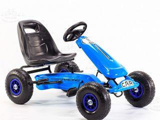 """Carting cu pedale """"Car 8 albastru"""""""