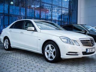 Luna Octombrie-reducere! Mercedes W212 alb exclusiv (nr.CIR 1),salon deschis! - 15 €/ora, 69 €/zi