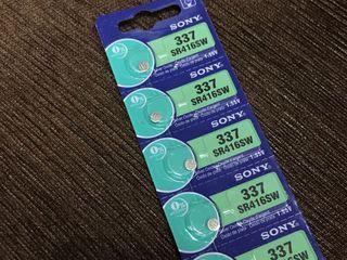 Baterii sony 337 / Baterie pentru microcasti батарейка для микронаушник Sony original